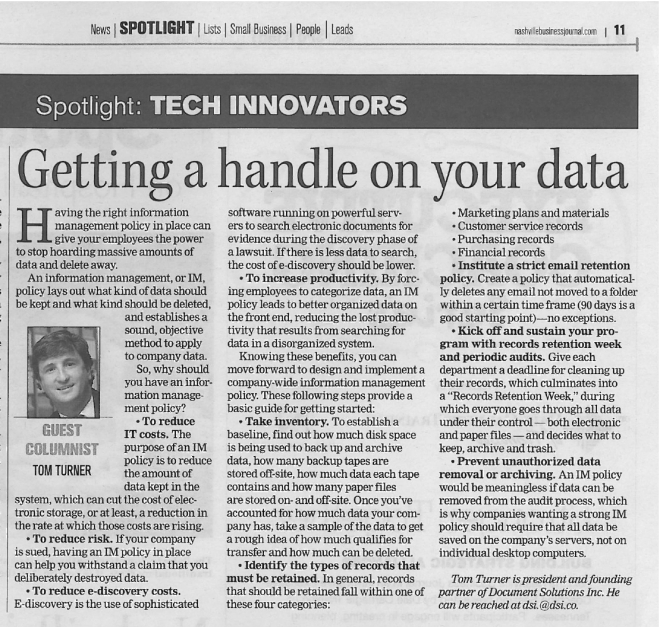 Getting a handle on your data