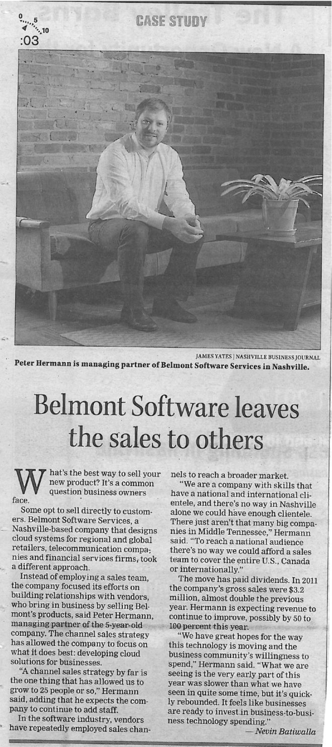 Nashville Business Journal clip