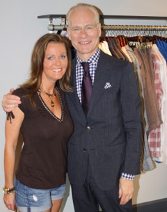 Aimee Johns and Tim Gunn