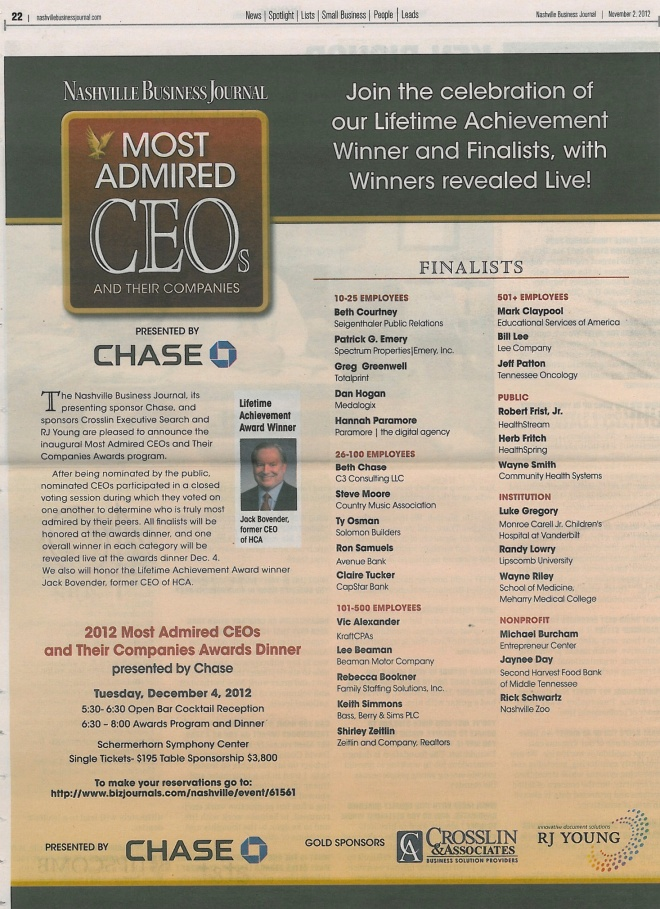 Most Admired CEOs