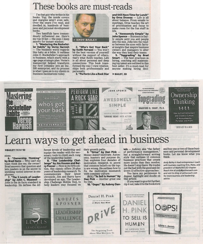 Andy Bailey's Top 10.5 Business Books