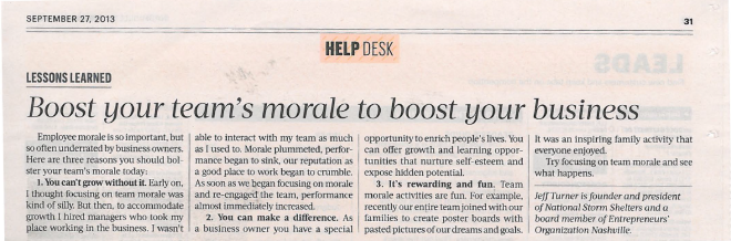 092713 NBJ Boost your teams morale to boost your business