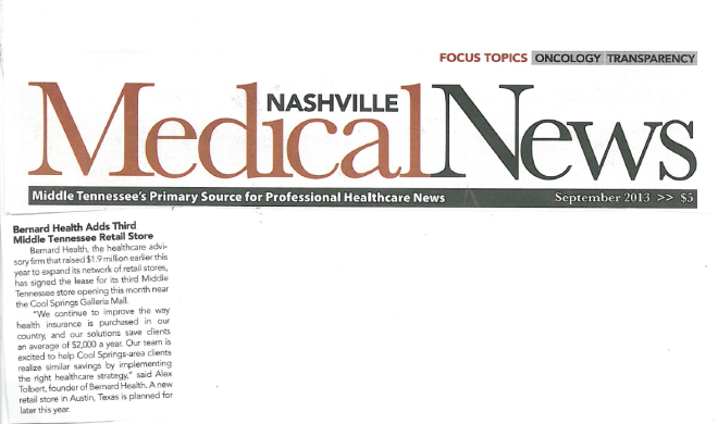Bernard nashville medical news